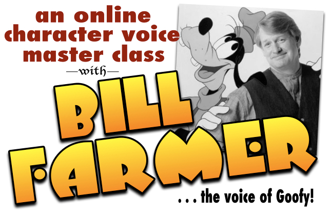 Online character voice master class with Bill Farmer